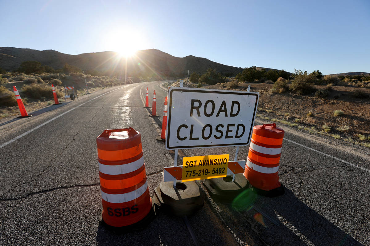 A checkpoint entering Reno-Sparks Indian Colony's Hungry Valley Reservation Wednesday, June 17, ...