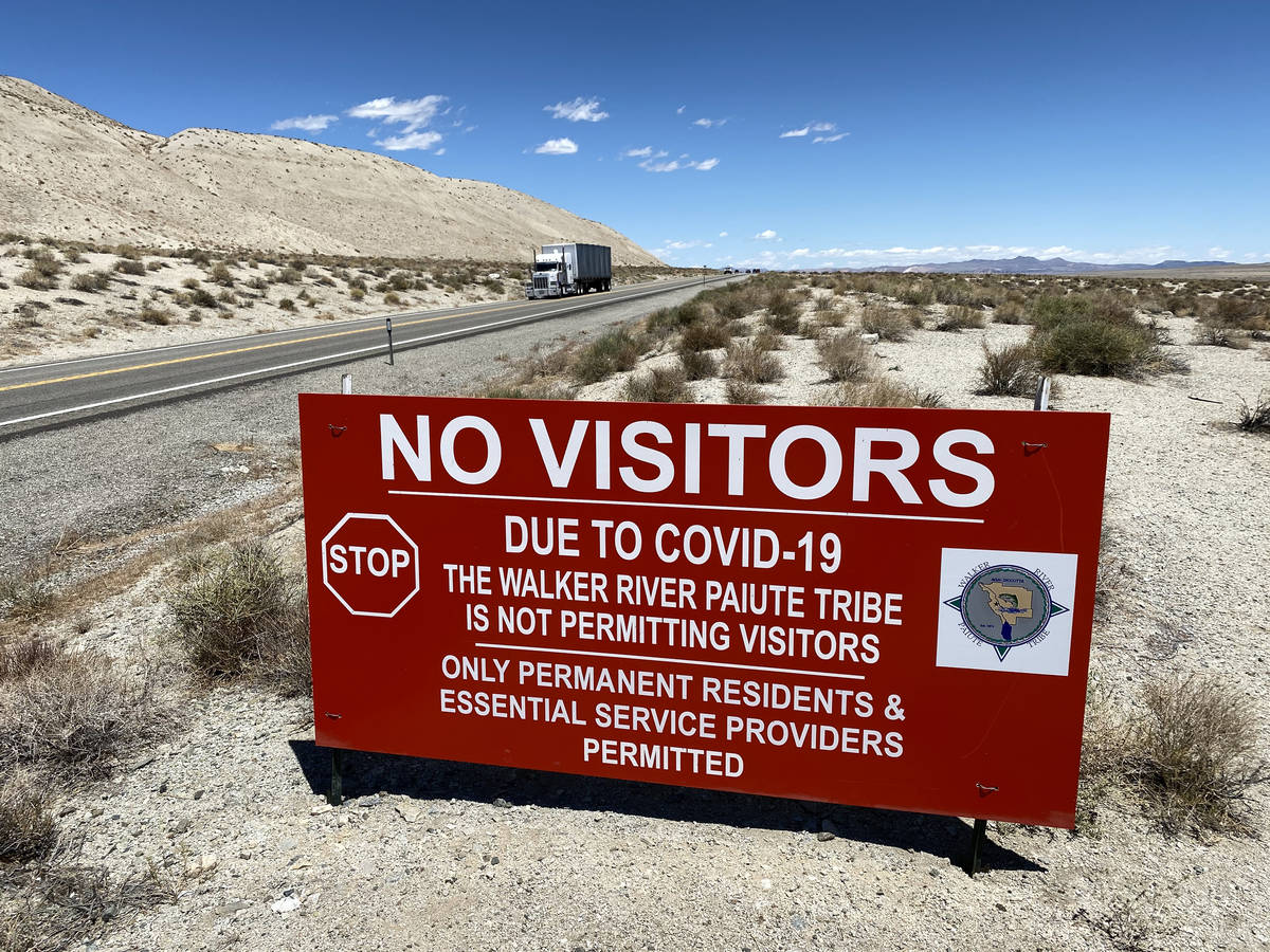 Walker River Paiute Tribe's Walker River Indian Reservation in Schurz is closed Thursday, June ...