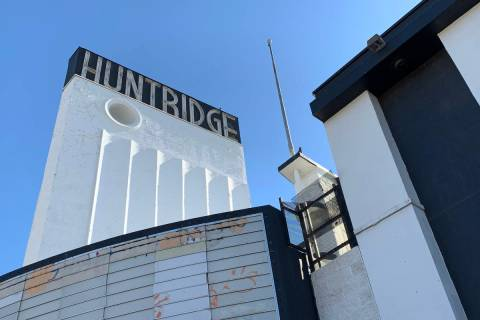 The historic Huntridge Theater photographed on Thursday, Oct. 31, 2019, in Las Vegas. (David Gu ...