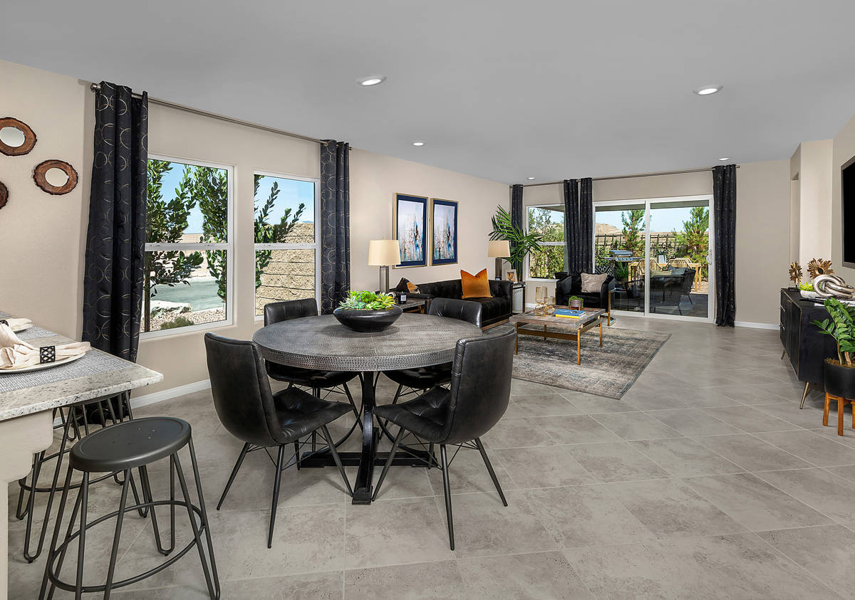 KB Home offers affordable homes in the Reserves neighborhood at Durham Ranch in Las Vegas. (KB ...