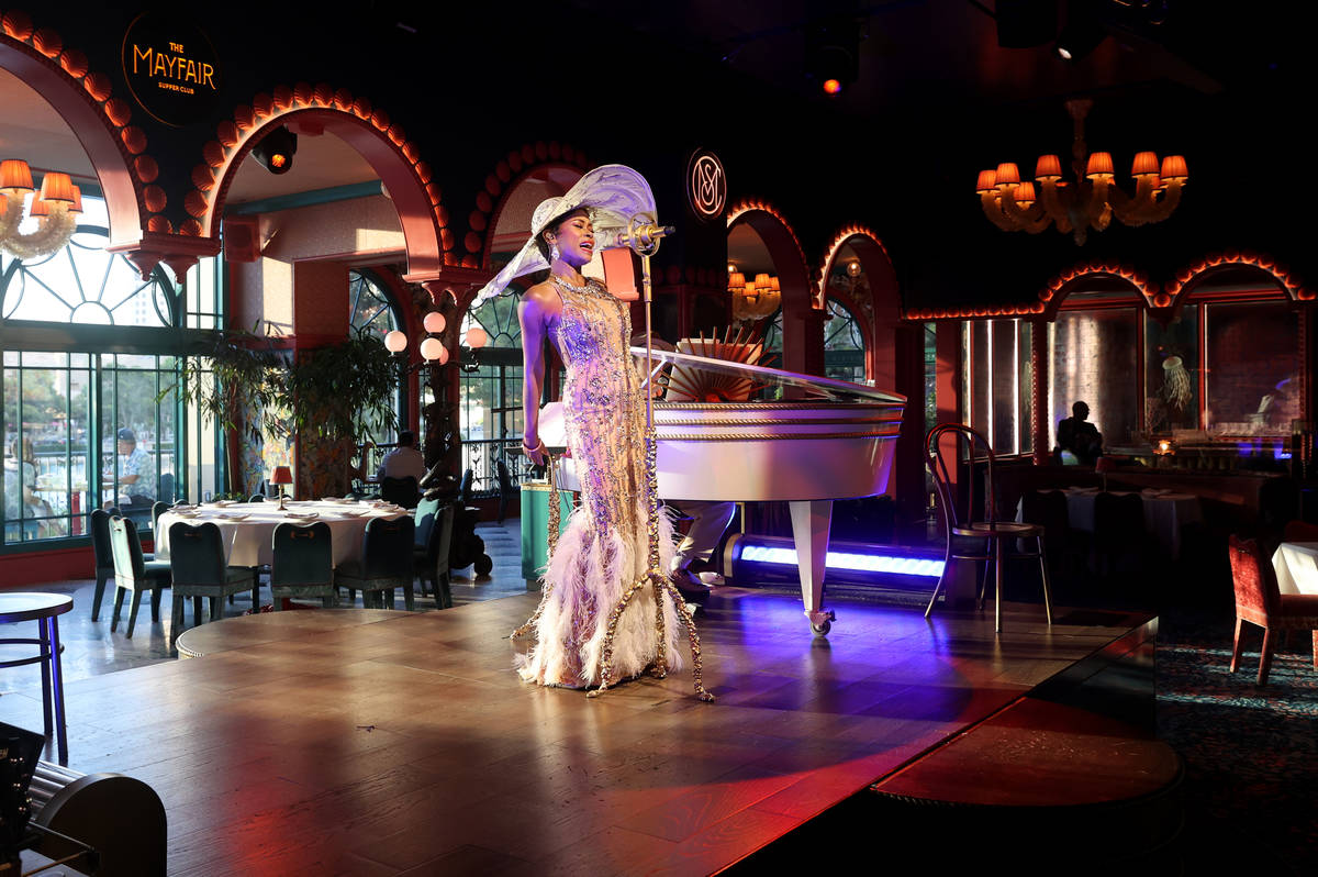 LaShonda Reese performs at The Mayfair Supper Club at the Bellagio on the Strip in Las Vegas on ...