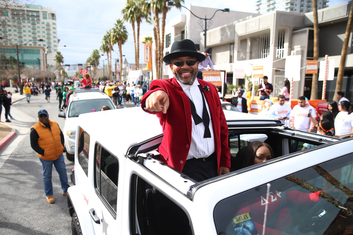 Grand Marshal Craig Knight during the 38th annual Dr. Martin Luther King Jr. Parade in downtown ...