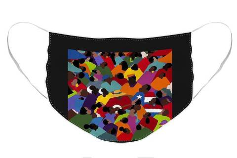 """""""Juneteenth"""" face mask designed by Synthia Saint James"""