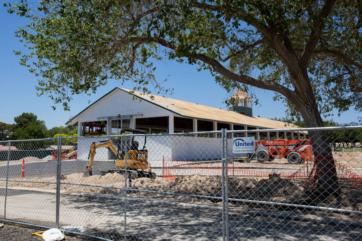 The historic hay barn in Floyd Lamb Park is renovated in Las Vegas on Friday, June 19, 2020. (C ...