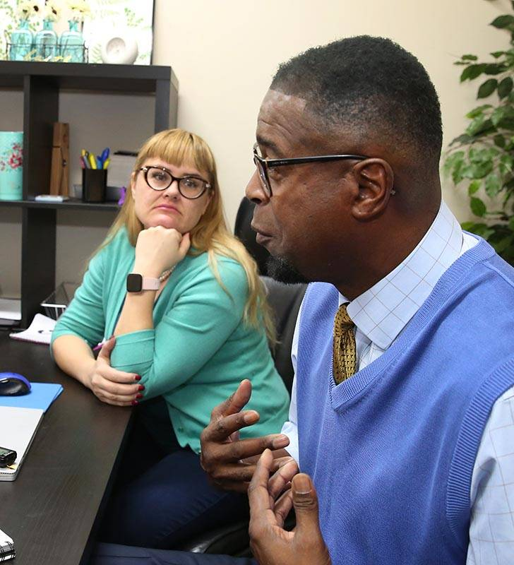 Gregg Ketter, a volunteer for Hope for Prisoners, speaks during an interview with the Review-J ...