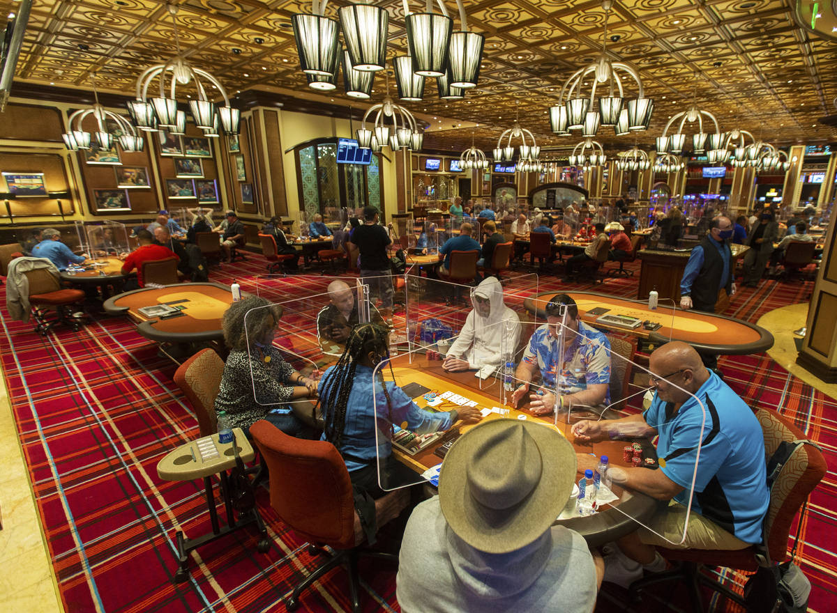 Bellagio S Plexiglass Not In Cards For All Las Vegas Poker Rooms Las Vegas Review Journal