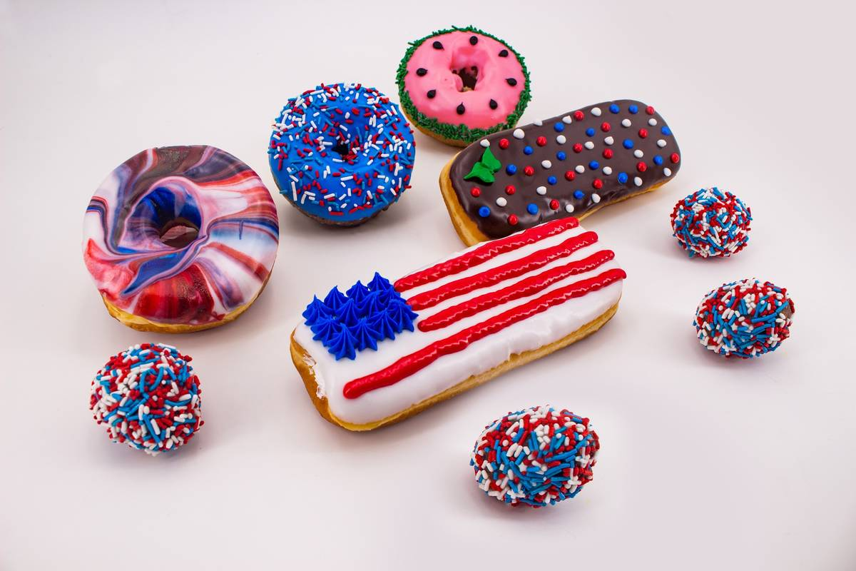 Fourth of July doughnuts available at Pinkbox. (Pinkbox Doughnuts)