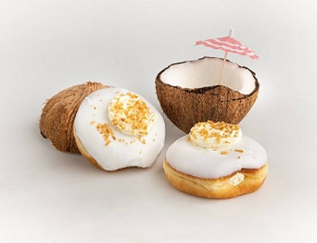 Coconut Fever. July Doughnut of the Month at Pinkbox Doughnuts. (Pinkbox Doughnuts)