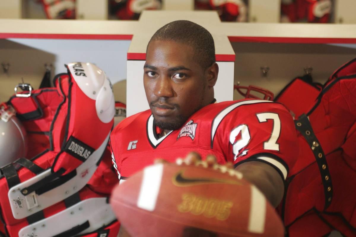 Sports; Jamaal Brimmer inside the UNLV Football Locker room, Thursday morning, August 12, 2004. ...