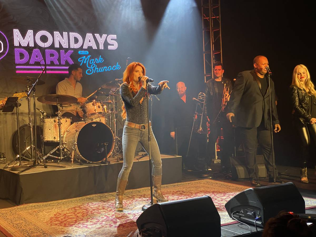 Anne Martinez is shown performing during Mondays Dark's live stream event on Monday, March 16, ...