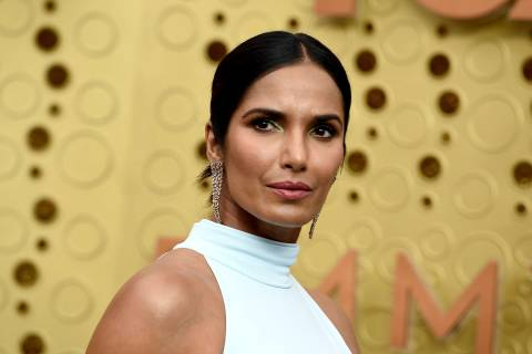 In this Sept. 22, 2019 file photo, Padma Lakshmi arrives at the 71st Primetime Emmy Awards in L ...