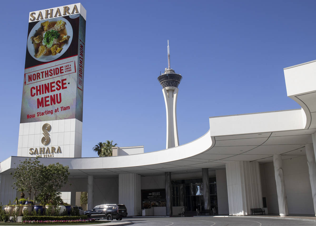 Sahara Las Vegas on Monday, June 22, 2020 in Las Vegas. Sahara Las Vegas' Northside Cafe has be ...
