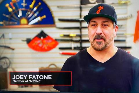 "A screen shot of Joey Fatone during his appearance on ""Pawn Stars,"" which premiered Monday nigh ..."