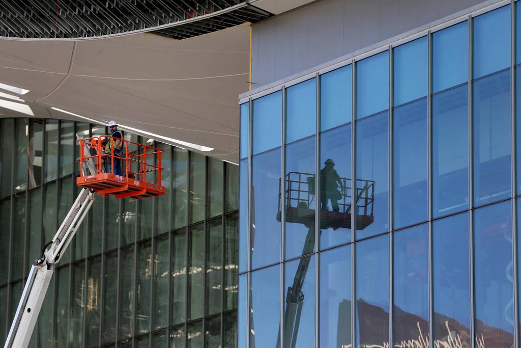 The Las Vegas Convention Center expansion project in Las Vegas, Thursday, June 25, 2020. (Erik ...