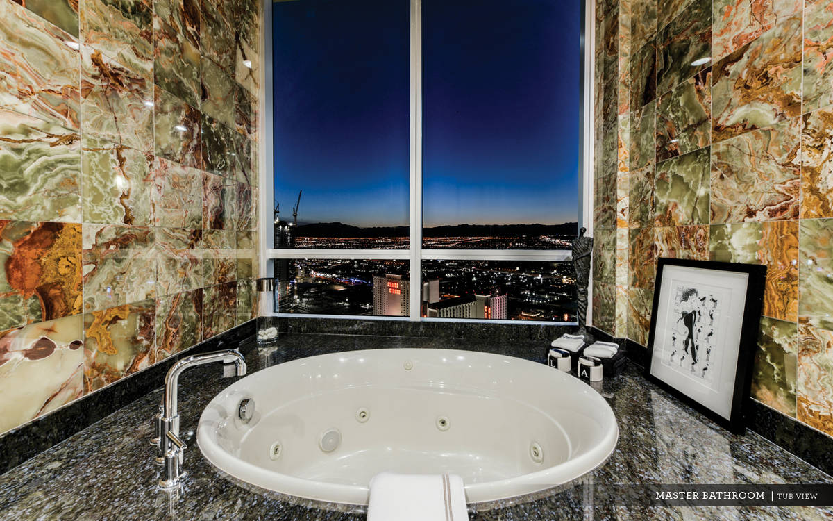 The spa-like master bath has a soaking tub. (Ivan Sher Group)