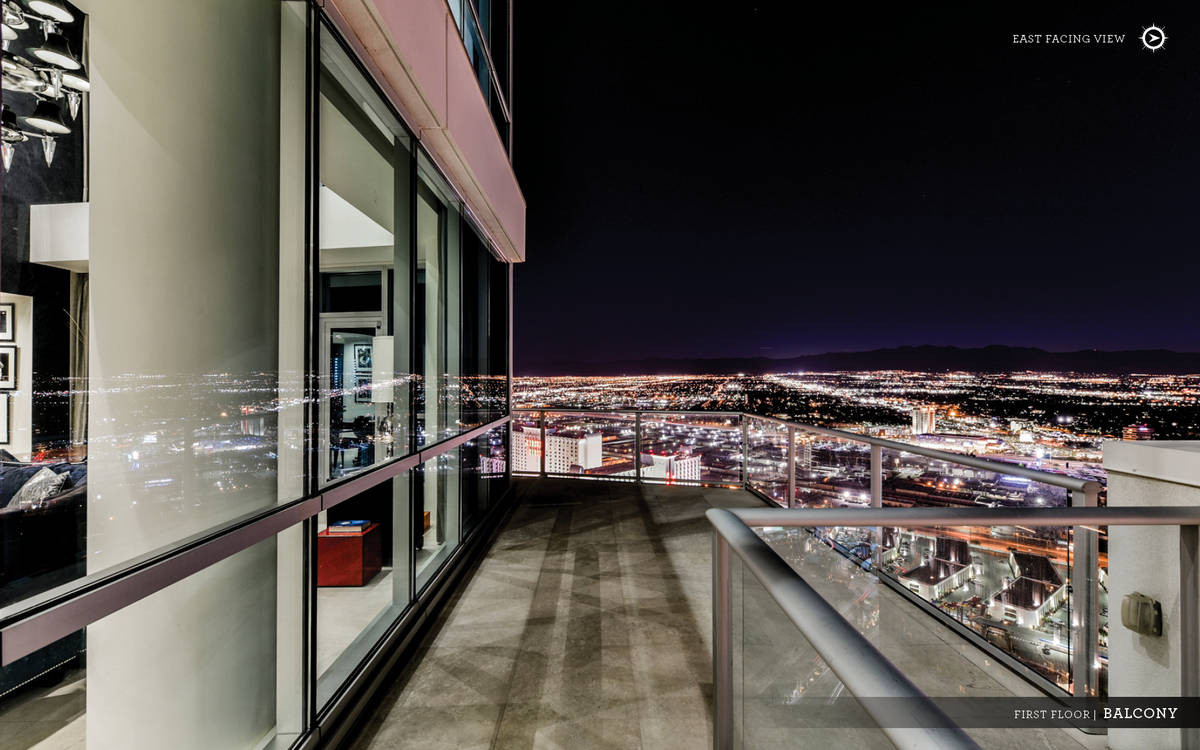 This Sky penthouse on Las Vegas Boulevard has its own private rooftop terrace that provides vie ...