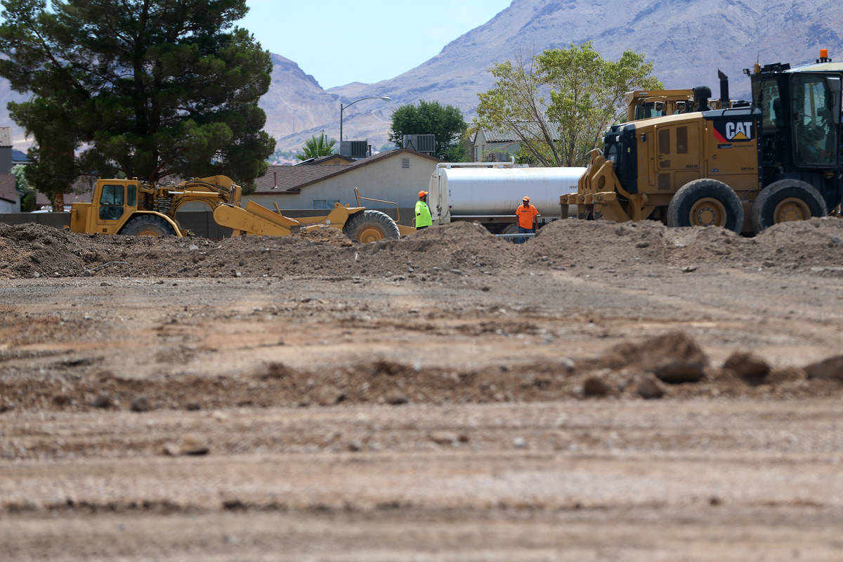 The site of the torn down Myrtle Tate Elementary School in Las Vegas, Wednesday, June 24, 2020. ...