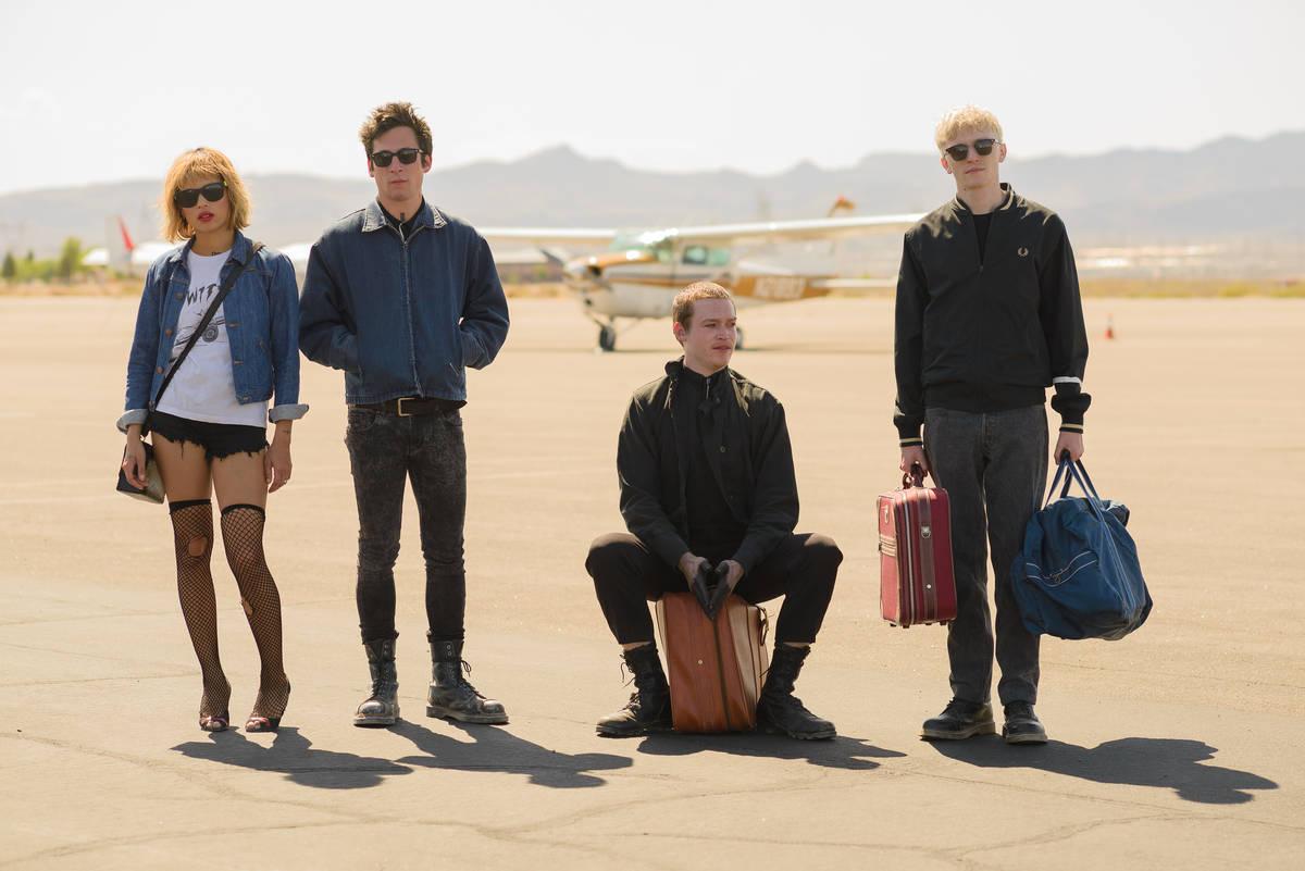 From left, Zoe Kravitz, Jeremy Allen White, Caleb Landry Jones and Ryan LeBoeuf at the Boulder ...