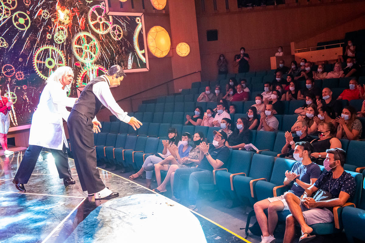 """A scene from the reopening of """"Wow To The Future"""" at Isrotel Royal's Garden Theater in Eilat, I ..."""