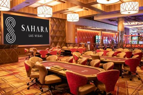 The Sahara Las Vegas poker room will install plexiglass dividers to allow it to host six-handed ...