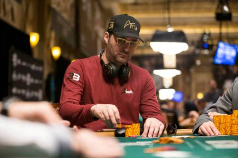 Professional poker player Phil Hellmuth during the World Series of Poker Main Event day 1A at t ...
