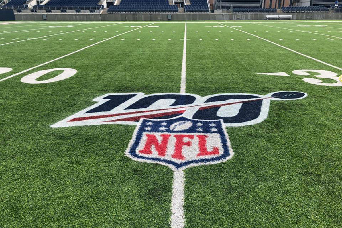 Tom Benson Hall of Fame Stadium is ready for the kick off of the #NFL100. The Atlanta Falcons t ...