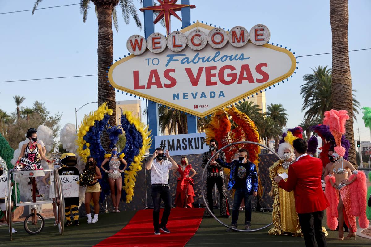 Las Vegas Review-Journal columnist John Katsilometes walks the red carpet at the Welcome to Fab ...