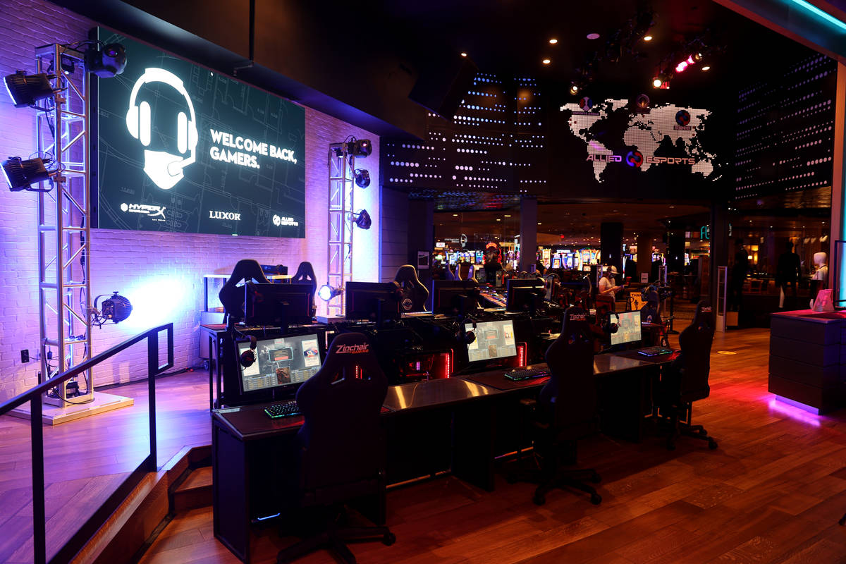 The lobby of HyperX Esports Arena at Luxor on the Strip in Las Vegas Thursday, June 25, 2020. ( ...