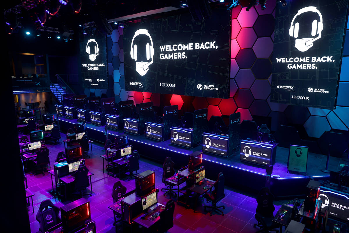 The main arena of HyperX Esports Arena at Luxor on the Strip in Las Vegas Thursday, June 25, 20 ...