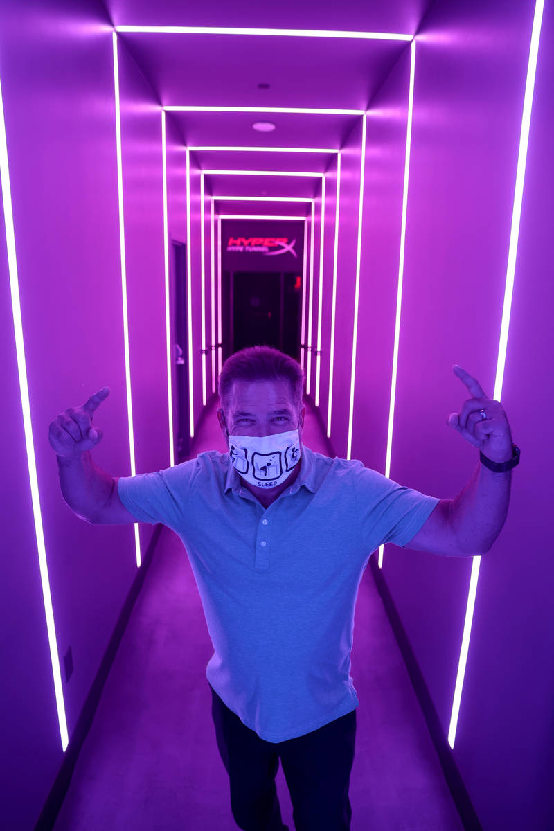 Vice President of Properties for Allied Esports Mark Green in the Hype Tunnel at HyperX Esport ...