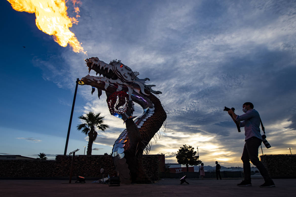 "Photographer Wade Vandervort, of the Las Vegas Sun, takes a picture of ""El Scorcho"" b ..."