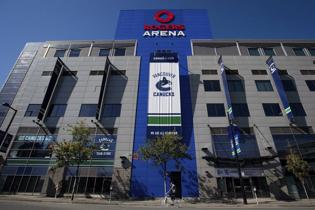 Rogers Arena, the home of the Vancouver Canucks' NHL team, in Vancouver, British Columbia, on S ...