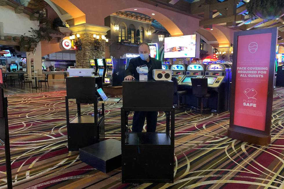 On the casino floor at Green Valley Ranch Resort, Friday, June 26, 2020. (Sabrina Schnur/Las Ve ...