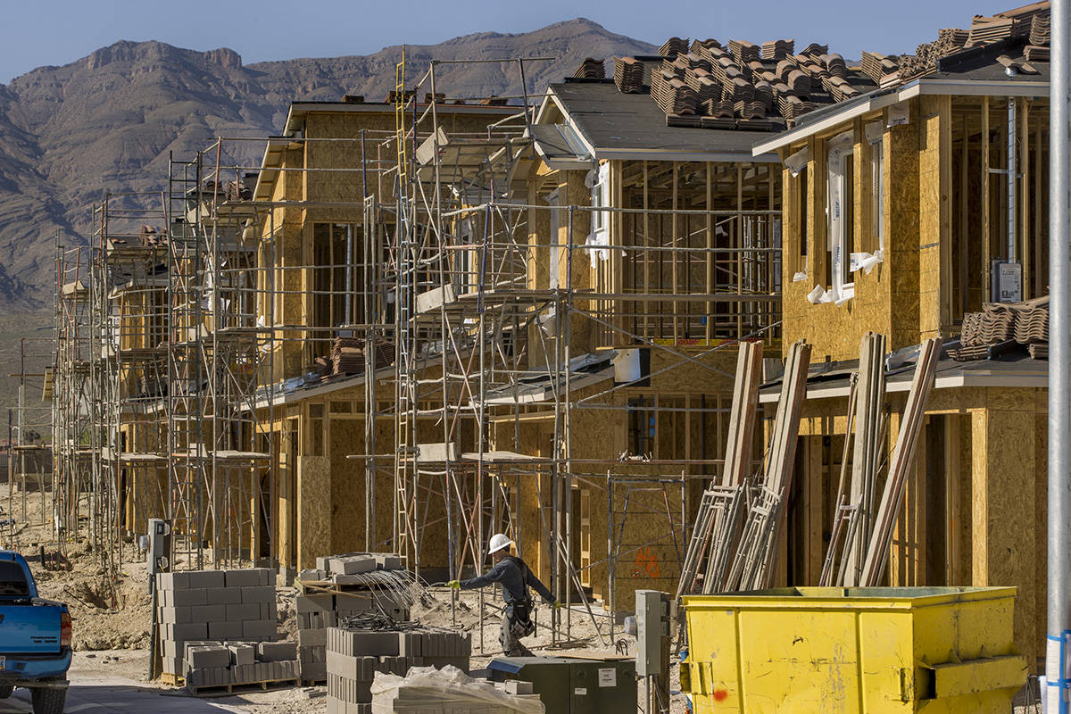 New home construction continues on a D.R. Horton community housing project in the northwest val ...