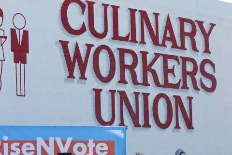 Culinary Workers Union Local 226 headquarters in Las Vegas, Saturday, Oct. 20, 2018. (Erik Verd ...