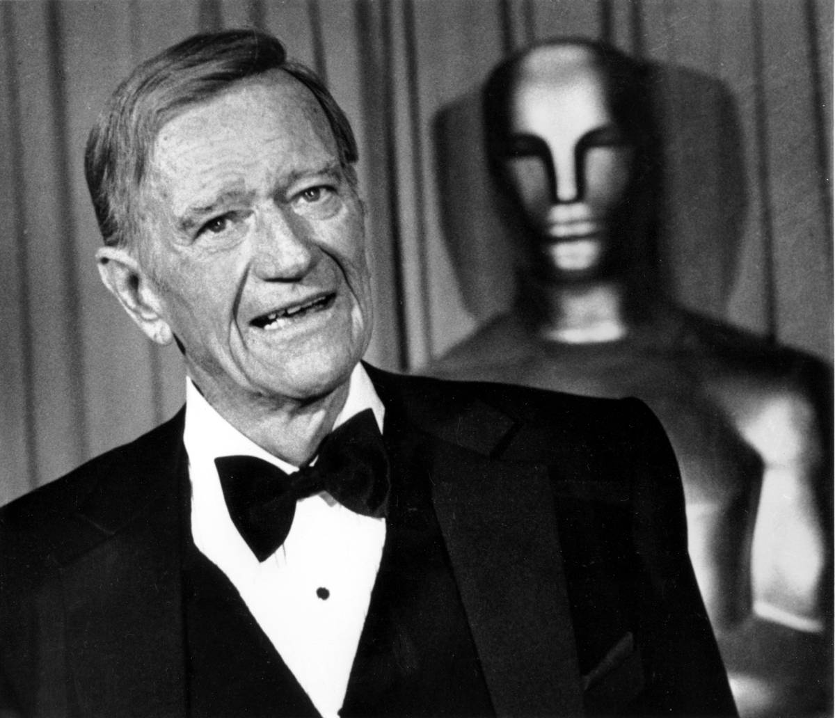 Actor John Wayne is shown at the 51st Annual Academy Awards in Hollywood, Ca. on April 9, 1979. ...