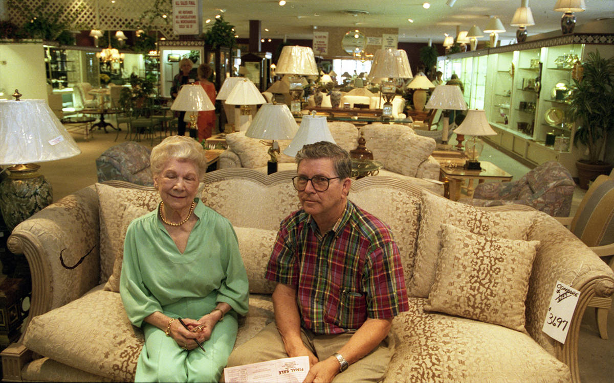 Owner Bertha Ragland and her son Bob McConnell at their longtime furniture store Bertha's at 89 ...