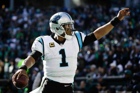 Carolina Panthers quarterback Cam Newton (1) in action during an NFL football game against the ...