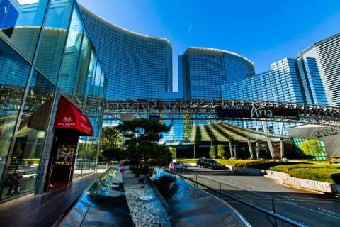 Exterior of Aria on Monday, Nov. 11, 2019, in Las Vegas. (L.E. Baskow/Las Vegas Review-Journal) ...
