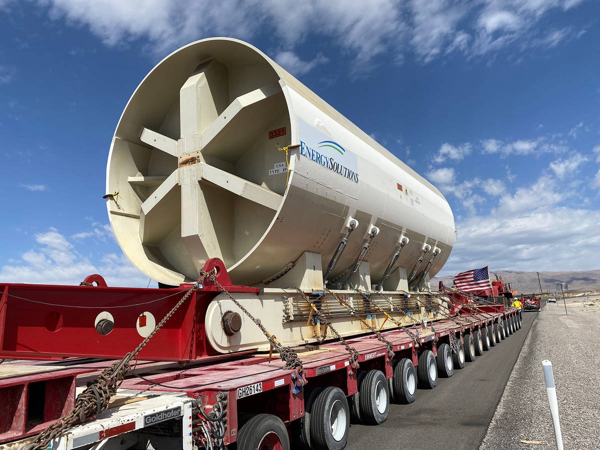 The 1.5 million-pound, 16.5-foot-diameter decommissioned reactor pressure vessel from Southern ...