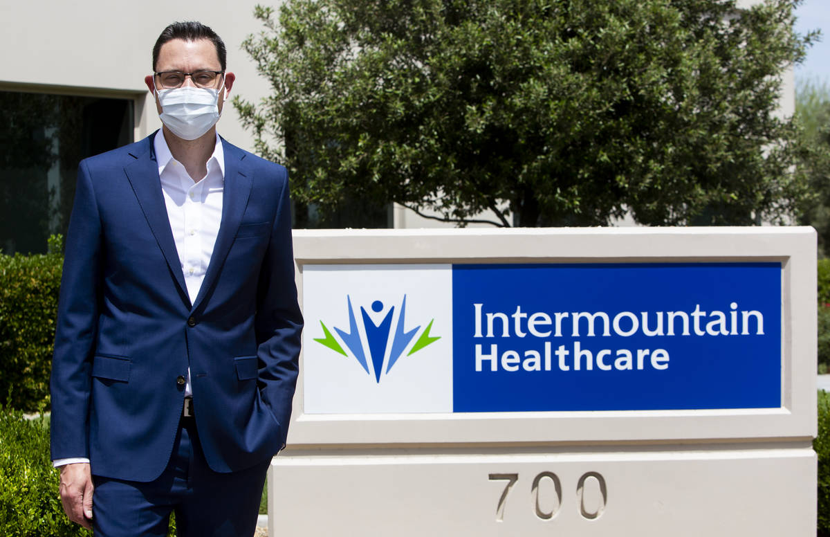 Mark Price, president of Nevada operations for Intermountain Healthcare, stands in front of the ...