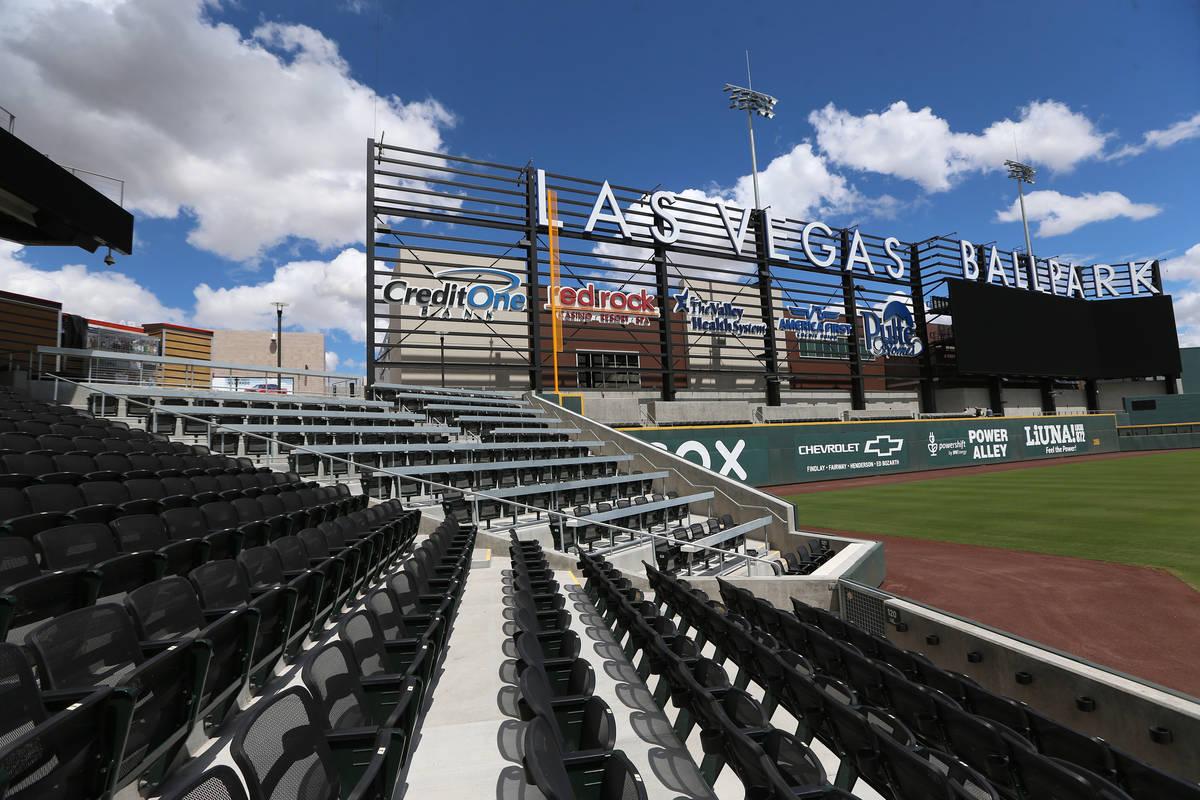 Las Vegas Ballpark in Las Vegas, Thursday, April 9, 2020. (Erik Verduzco / Las Vegas Review-Jou ...