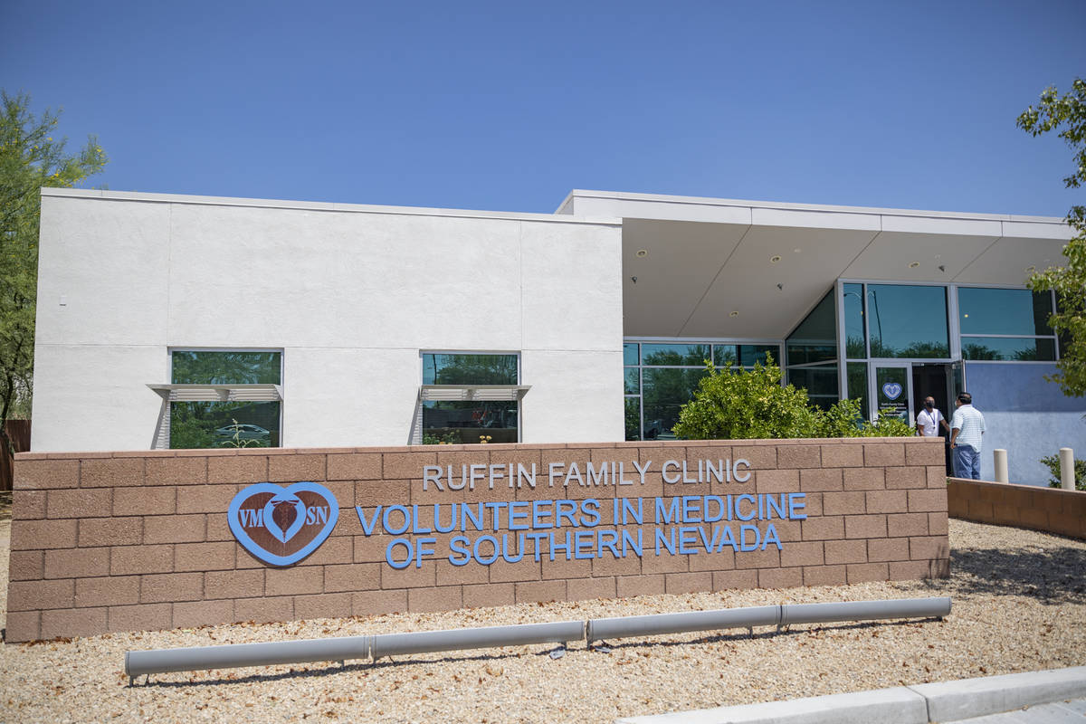 The Volunteers in Medicine of Southern Nevada Ruffin Family Clinic location is seen in Las Vega ...