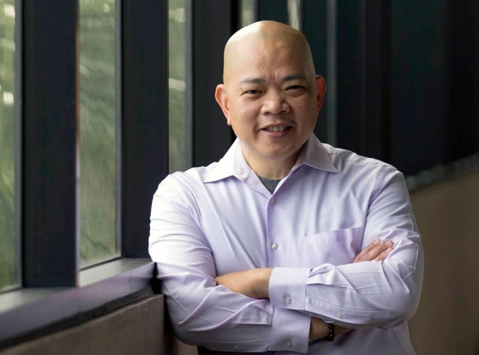 Sonny Vinuya, Las Vegas Asian Chamber of Commerce president, at his Las Vegas office on Friday, ...