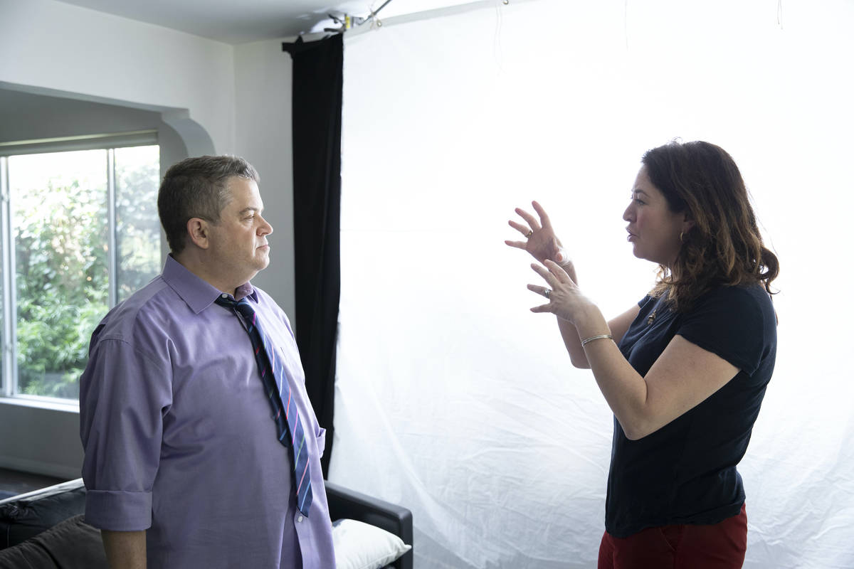 """Patton Oswalt and director Liz Garbus from HBO's """"I'll Be Gone In The Dark."""" (HBO)"""