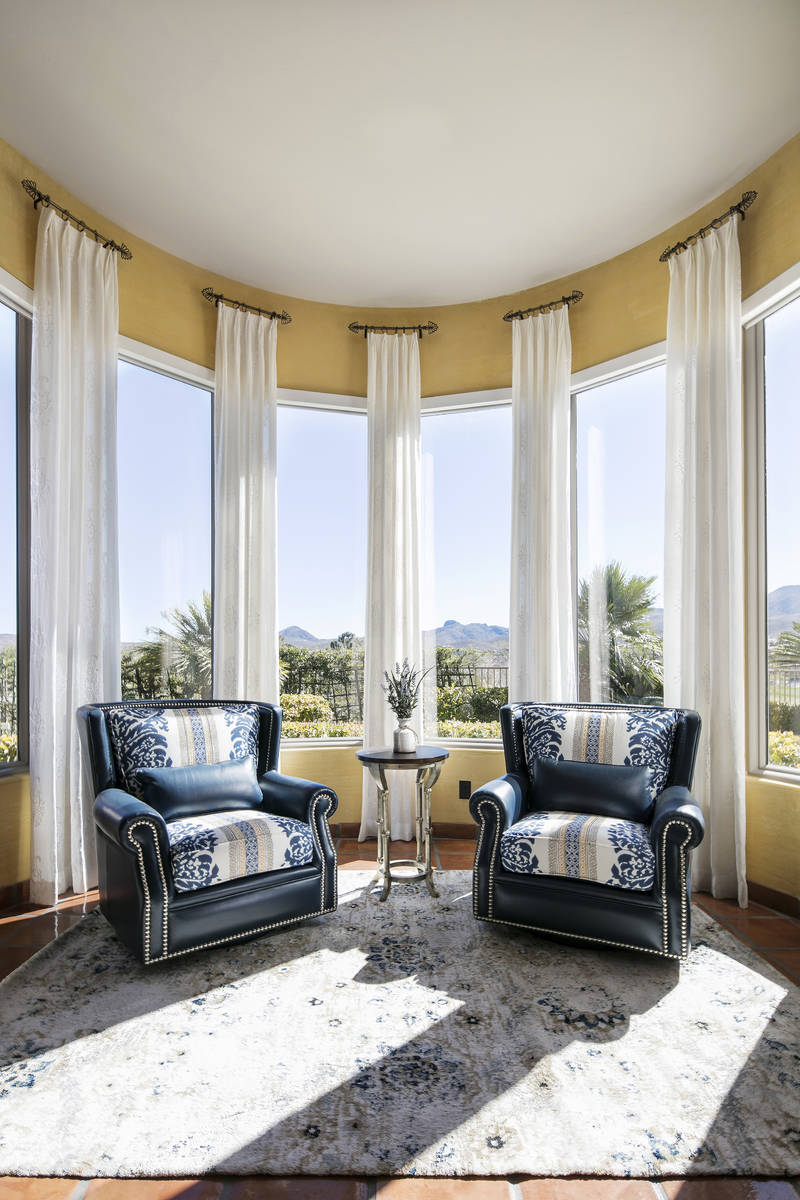 Textured sheer drapes allow homeowners to bring in the natural light and work in both modern an ...