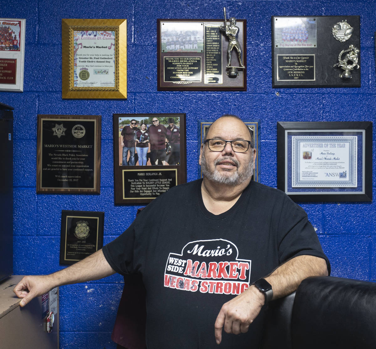 Mario Berlanga, owner of Mario's Westside Market, on Wednesday, June 17, 2020, in Las Vegas. (B ...