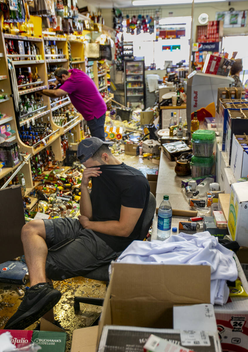 Ziad Abdullatif of the Eastridge Market liquor store is tired but still helping to run the fami ...