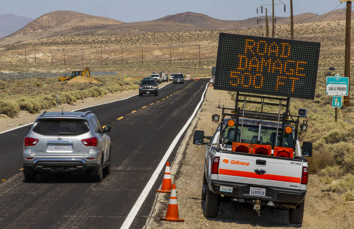 Caltrans workers have already patched some of the extensive cracks with shifting pavement that ...