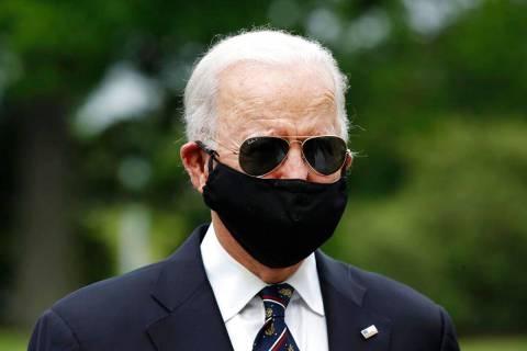 Democratic presidential candidate, former Vice President Joe Biden, with Jill Biden, departs af ...